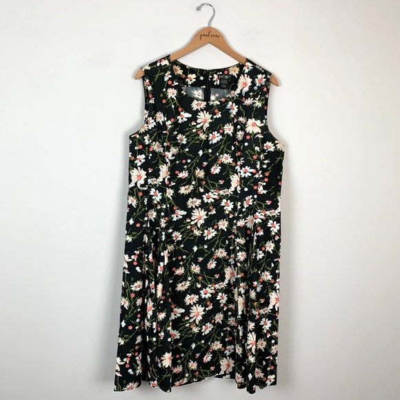 Lord & Taylor Daisy Floral Cotton Dress Plus